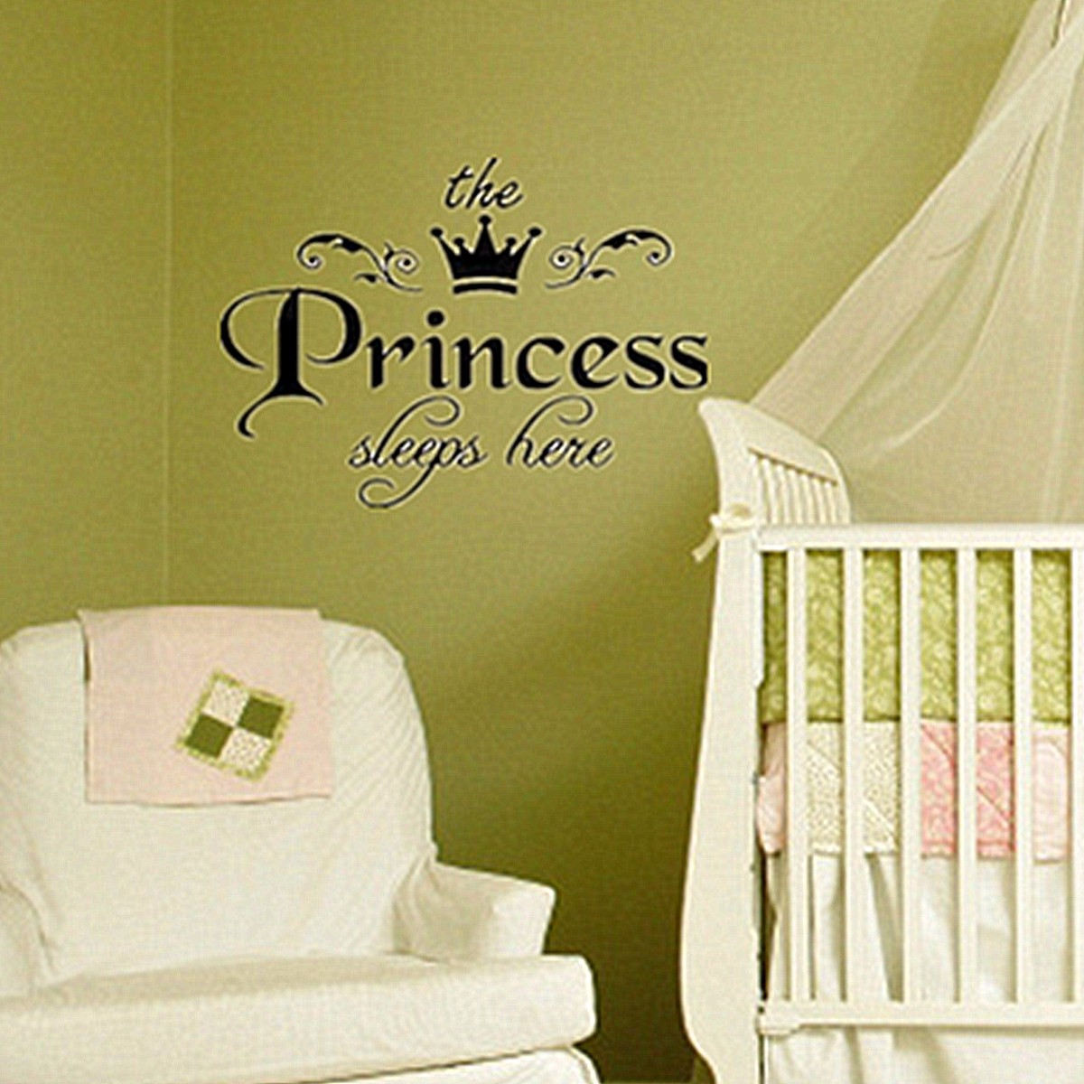 Fairy Stickers For Walls Removable Princess Sleeps Wall Stickers Art Vinyl Decals