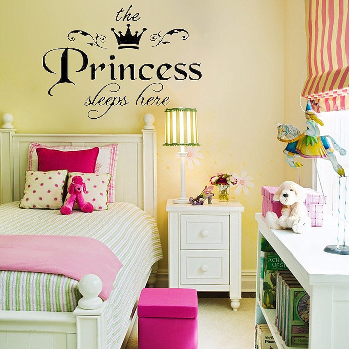 Removable princess sleeps wall stickers art vinyl decals for Room decor lazada