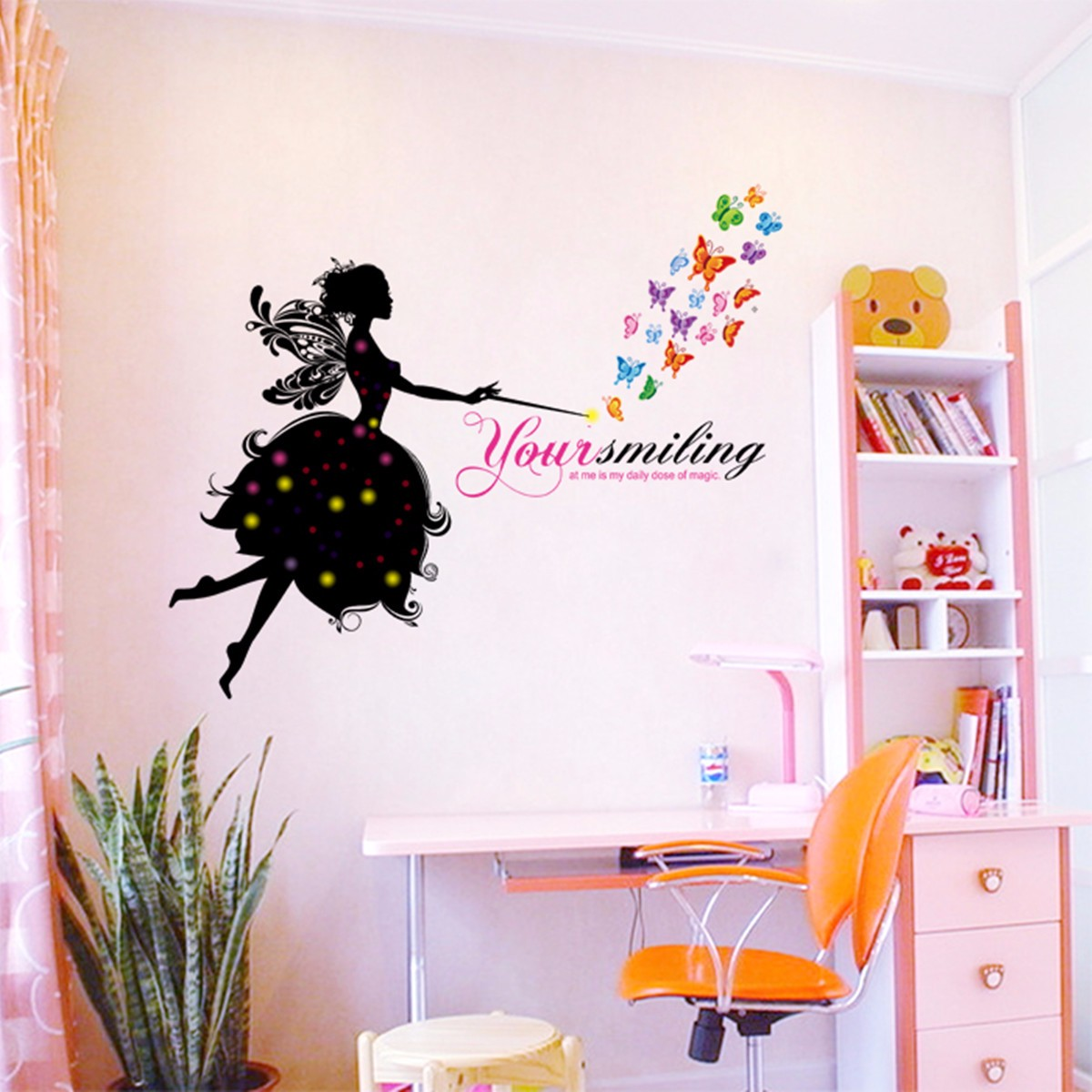 Flower Girl Removable Wall Art Sticker Vinyl Decal Kids Room Home ...