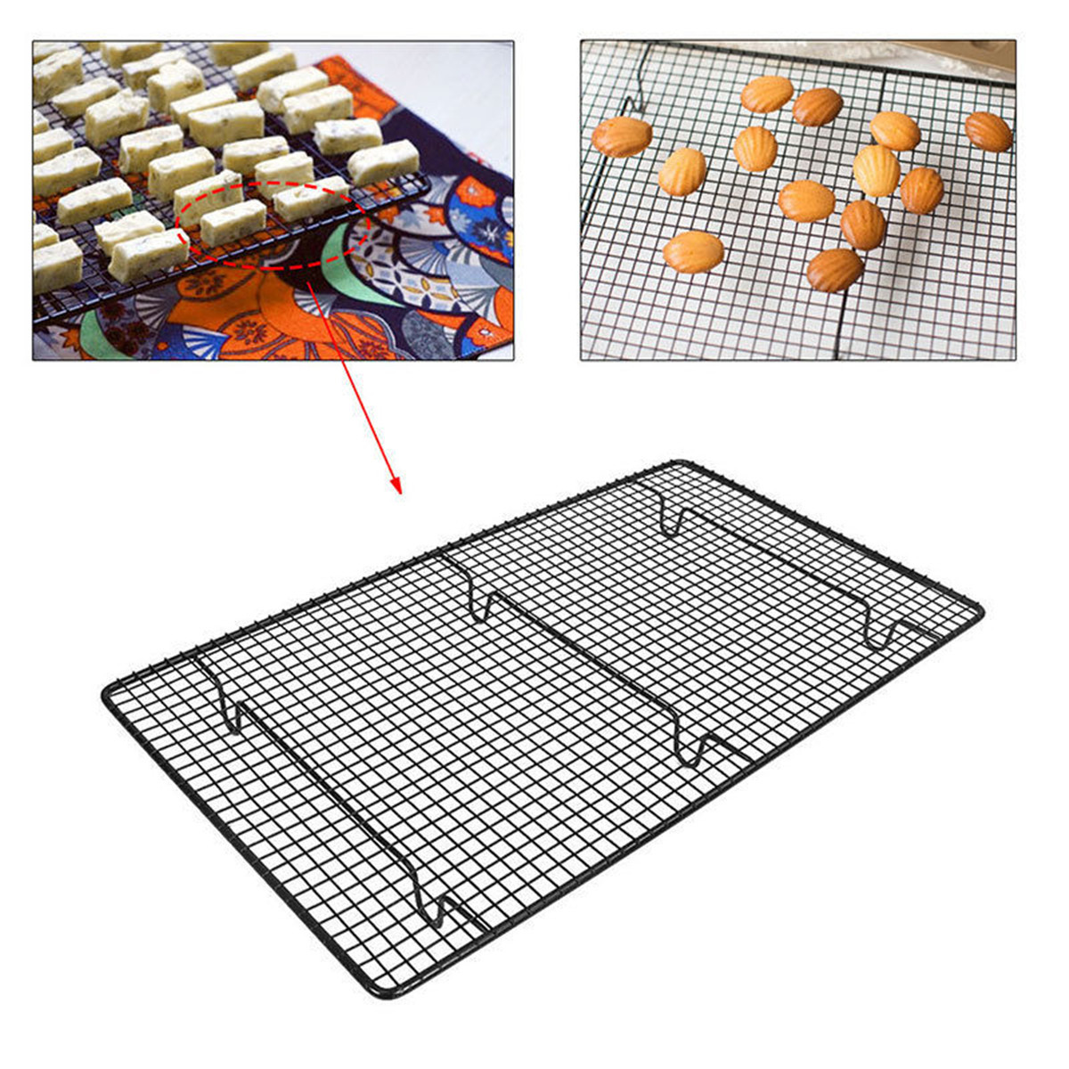 Non Stick Sturdy Large Wire Cooling Tray Cakes Cookies