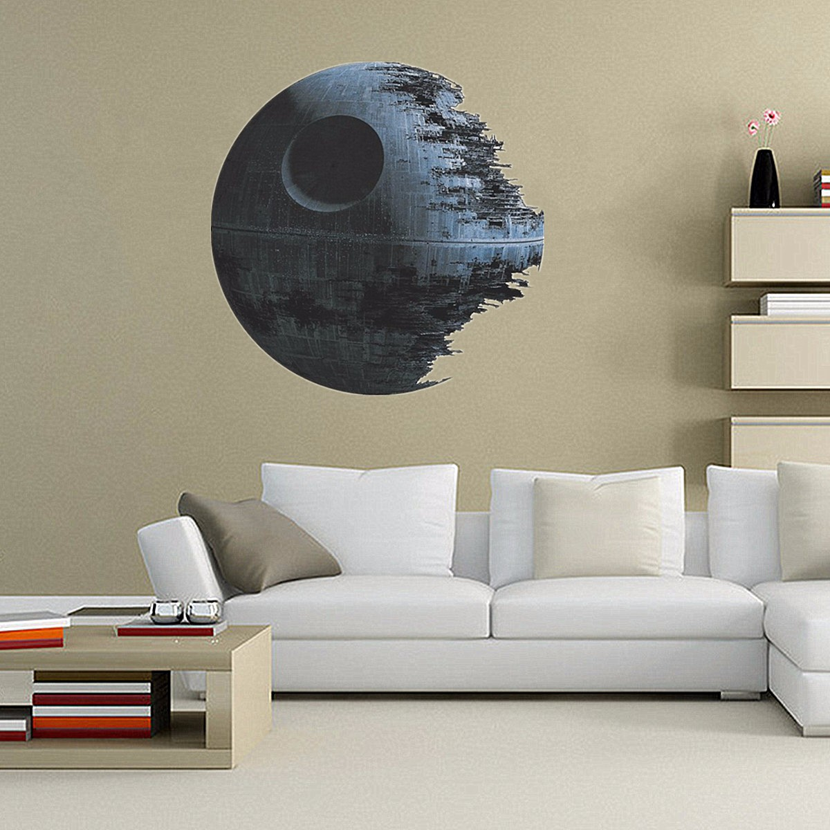 Deco Chambre Star Wars tempsa 45*45cm stickers muraux amovible death star wars