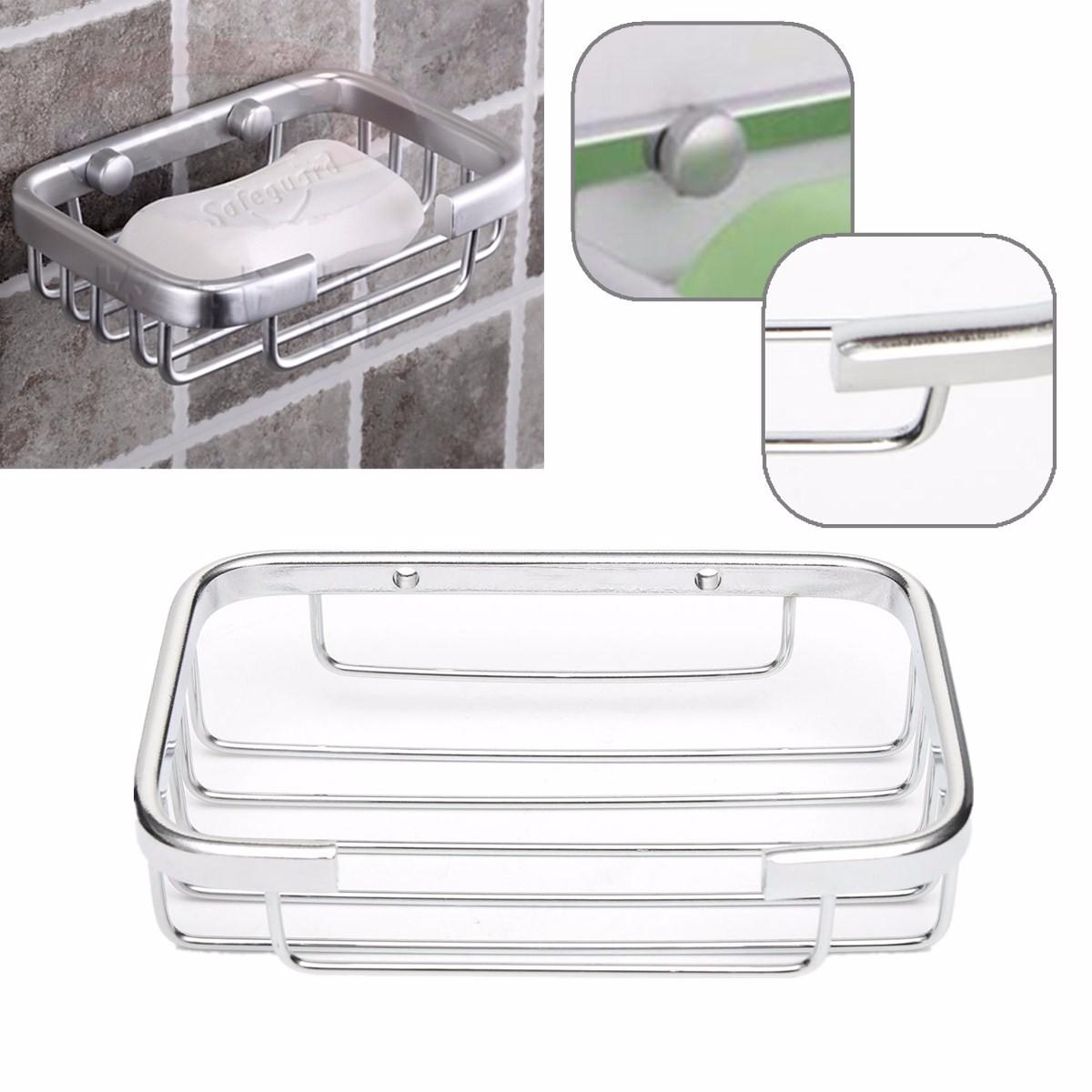 support porte savon en acier inox panier pr savonnette douche vis salle de bain achat vente. Black Bedroom Furniture Sets. Home Design Ideas