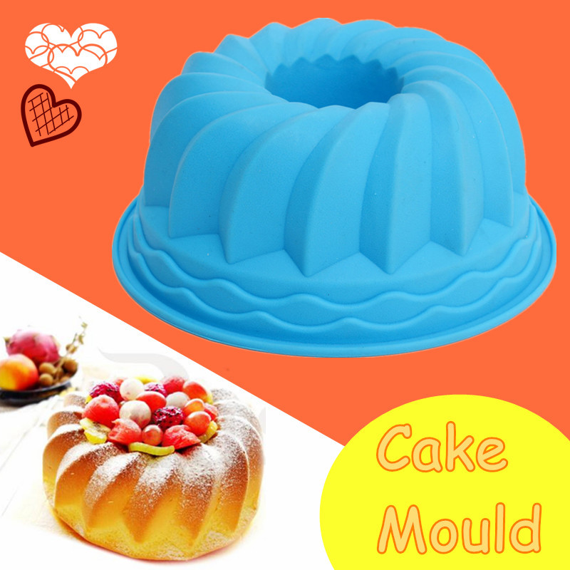 Cake Decor Cake Pens : Swirl Bundt Ring Silicone Cake Bread Pastry Tray Pan ...