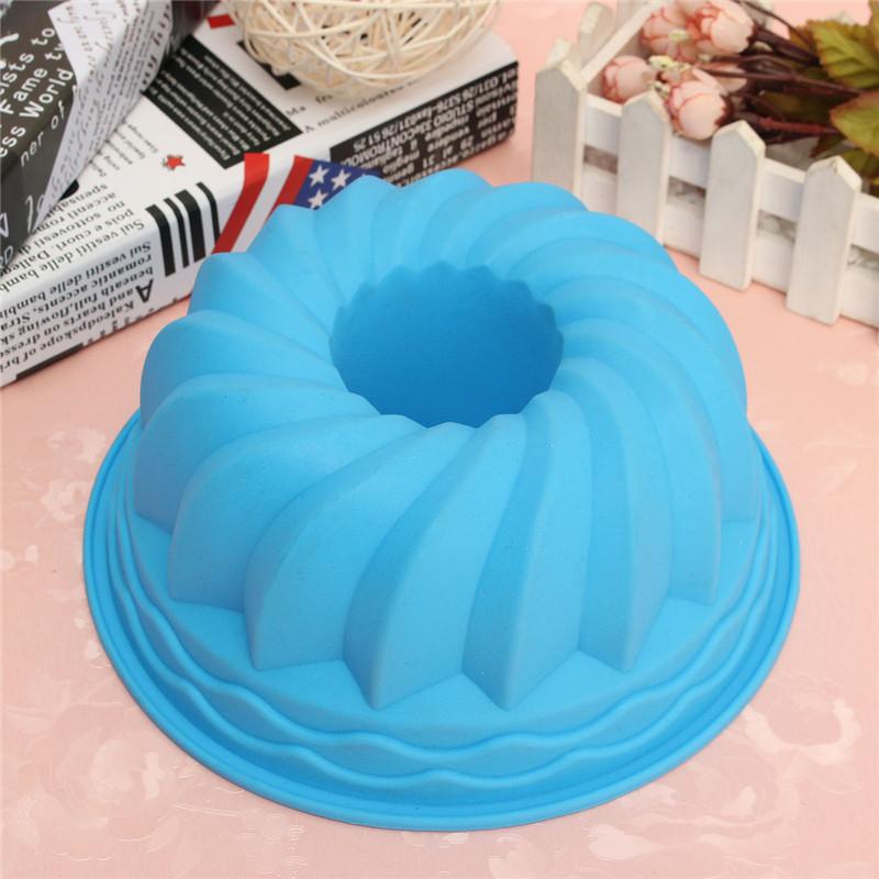Cake Decor Cake Pens : Swirl Bundt Ring Silicone Cake Bread Pastry Tray Pan ...