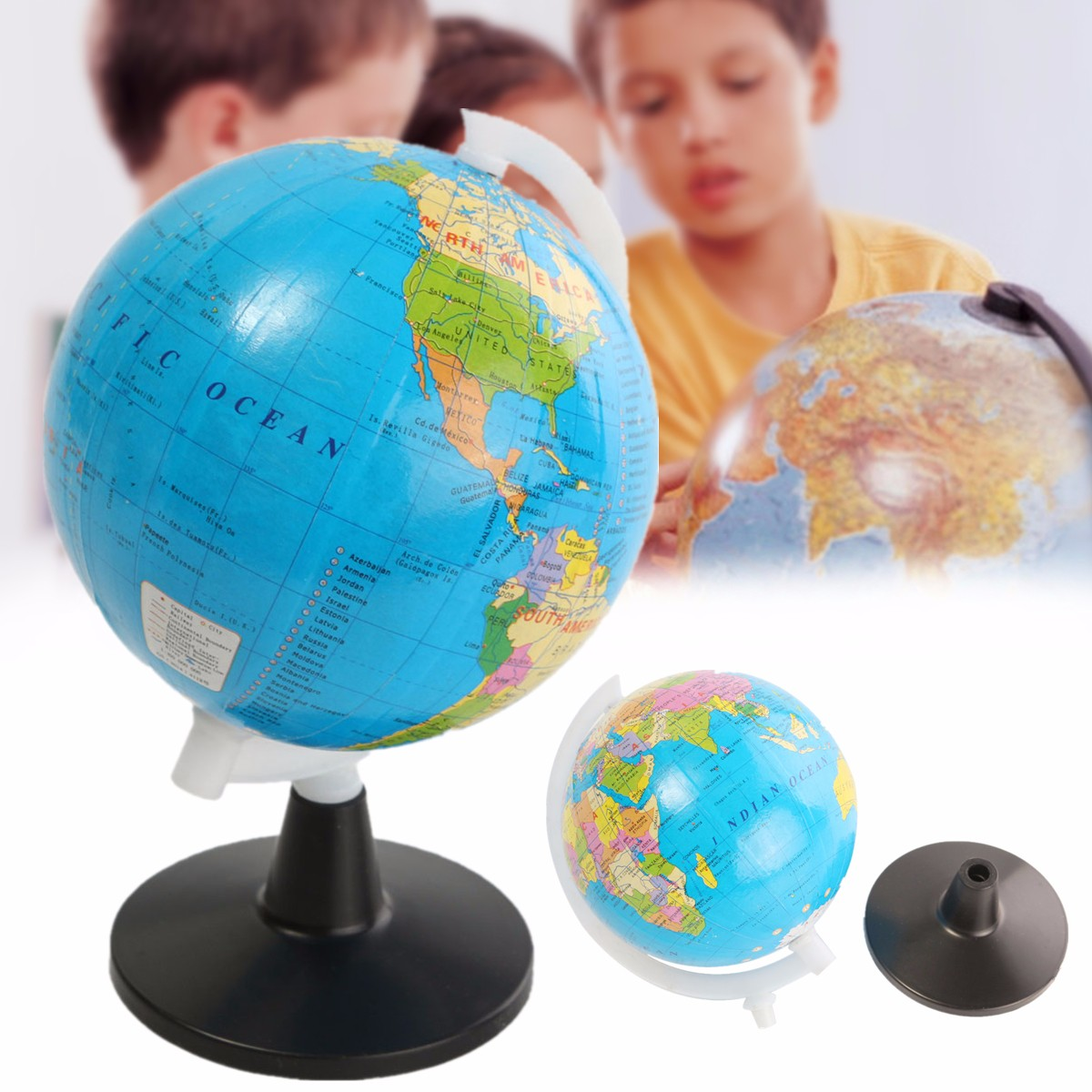am ricain type globe terrestre carte monde sph re g ographique ducatif achat vente. Black Bedroom Furniture Sets. Home Design Ideas
