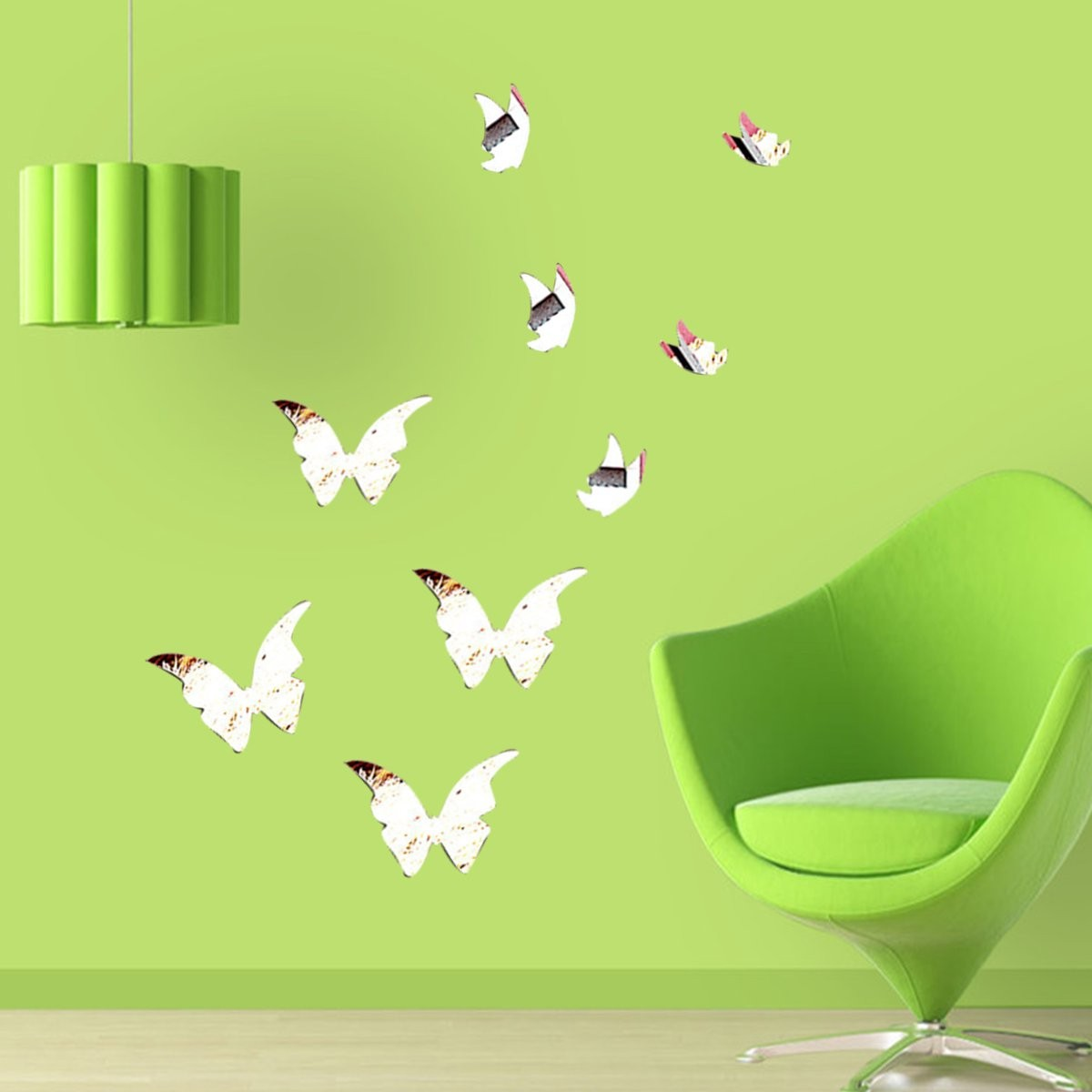 Butterfly Mirror Wall Decoration : Butterfly mirror wall sticker art decal decoration diy