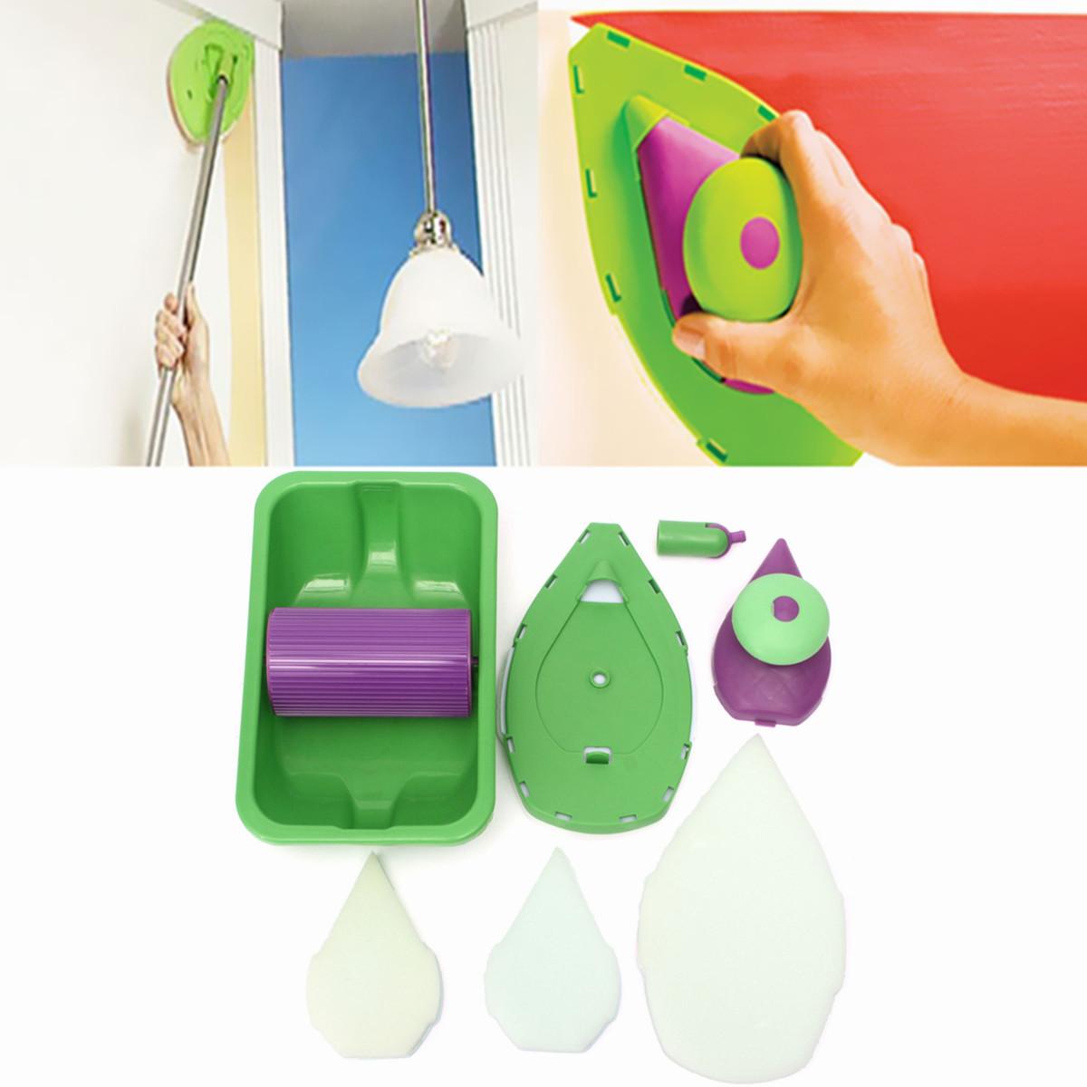 Painting roller tray sponge set kit household decorative - Rouleau peinture effet ...