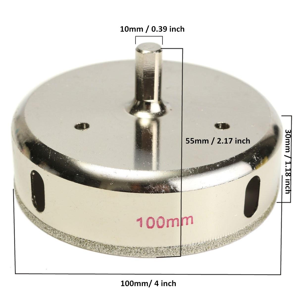 70mm Diamant Foret Trou Scie pour Tuile Verre Marbre Outil Argent/é