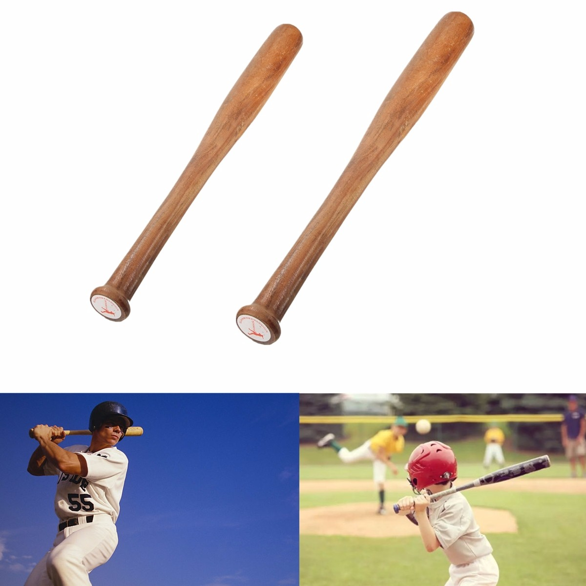 """Wood Wooden Baseball Bat Racket Softball Outdoor Sports Adult Kids 21.3"""" 25.2"""""""