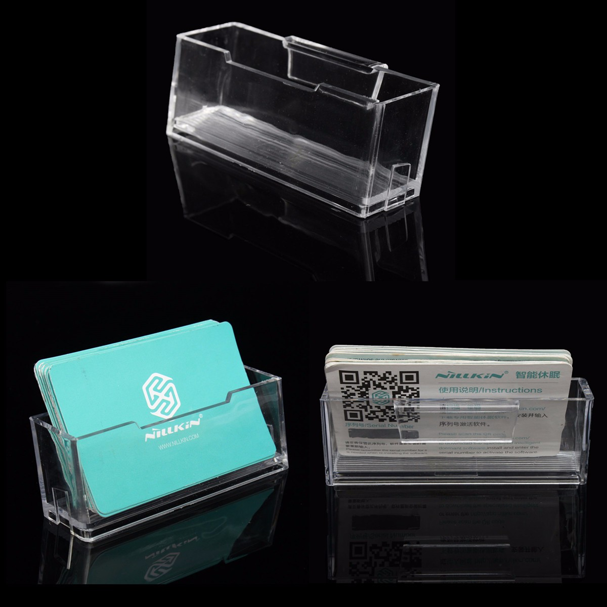60 Cartes De Visite Par Compartiment 4 Produit High Clart Plastique Clair Ce Qui Est Anti