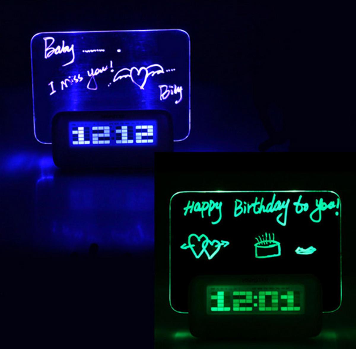 HIGHSTAR Horloge Alarme Modèle Babillard Fluorescent Calendrier ...