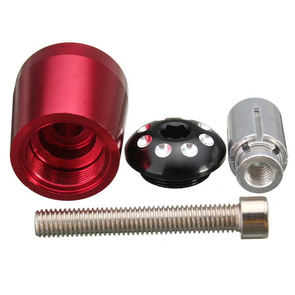 7/8 Inch Universal Motorcycle Handlebar Grip Ends Weights Anti Vibration Silder Plug