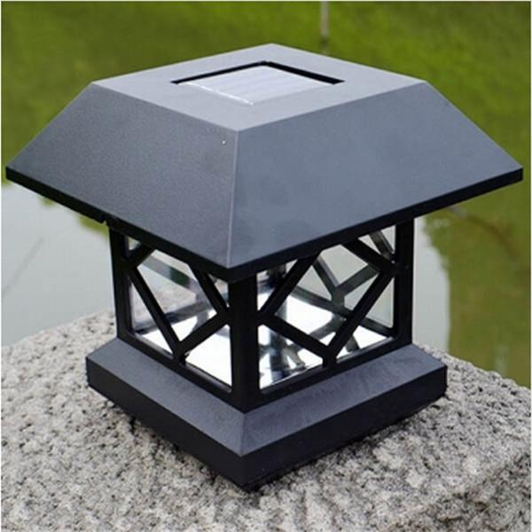 1 2v garden lawn solar white led pillar lamp outdoor