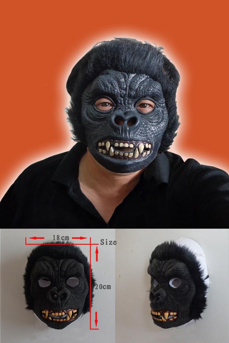 Halloween Baboon Monkey Orangutan Leopard Latex Animal Face Mask Costume Party