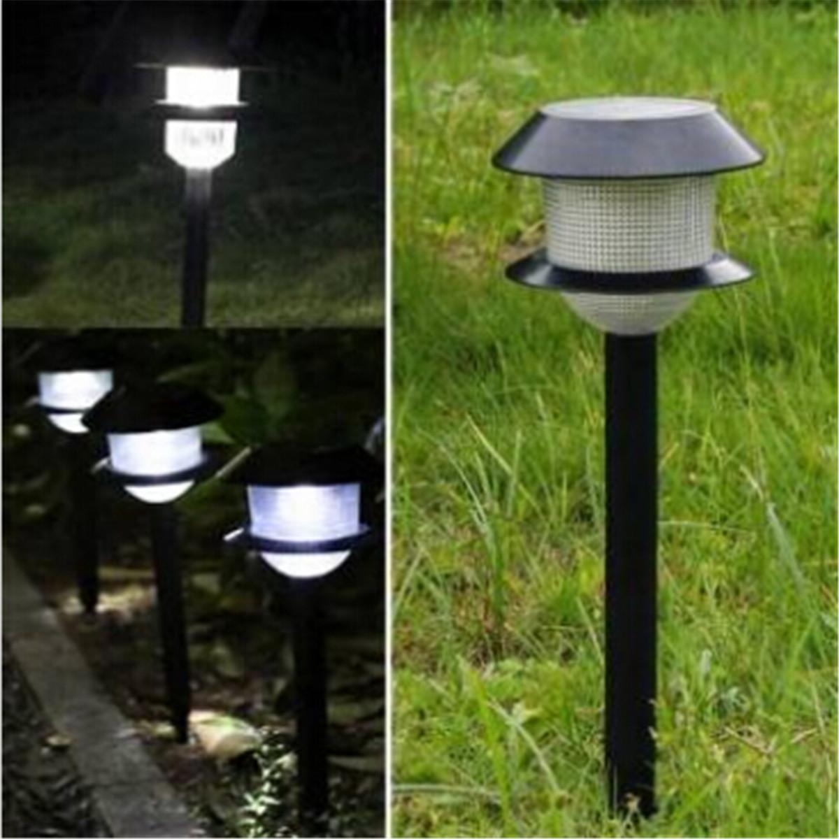 Lampe solaire globe jardin cour pelouse sol clairage for Lampe jardin eclairage exterieur