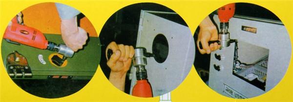 Drillpro Double Headed Sheet Metal Nibbler Cutter Drill Attachment Metal Sheet Cutter Using Occasion