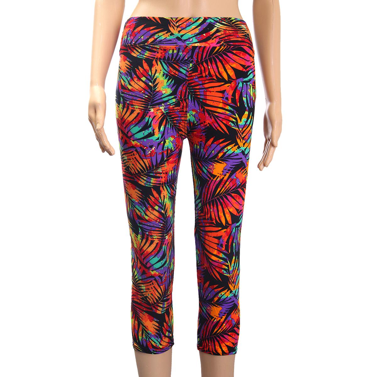 New Womens High Waist Fitness YOGA Sport Pants Printed