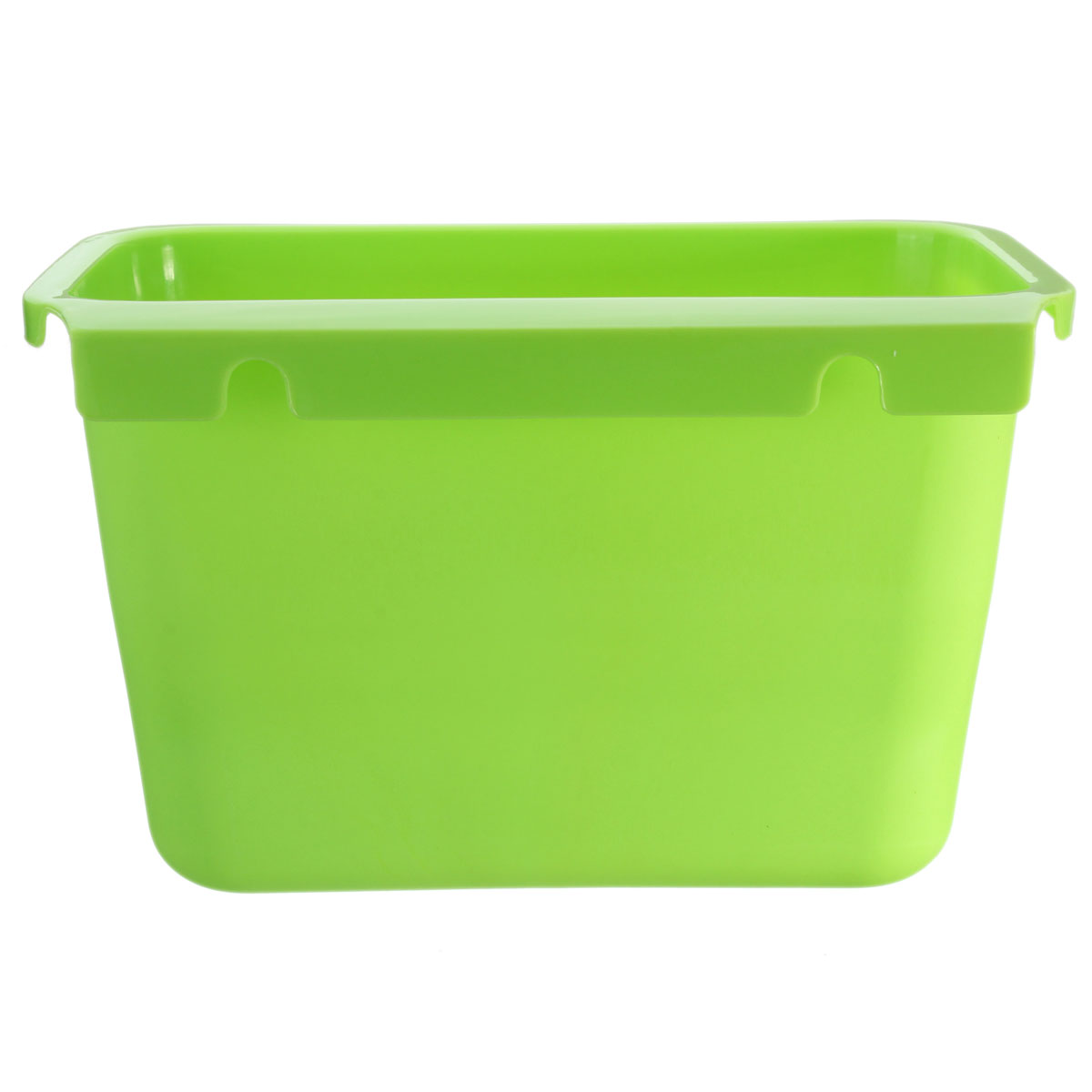 Green Kitchen Bin: Square Kitchen Trash Hang Over Cabinet Waste Basket
