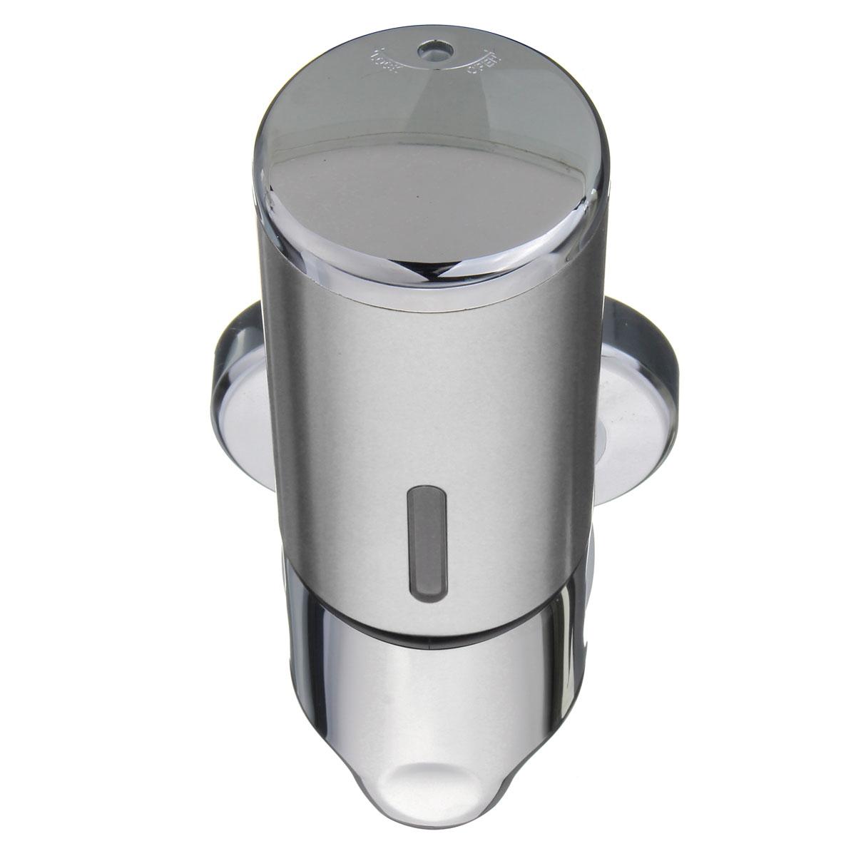 500ml Wall Mount Bathroom Soap Shower Round Shampoo Bottle