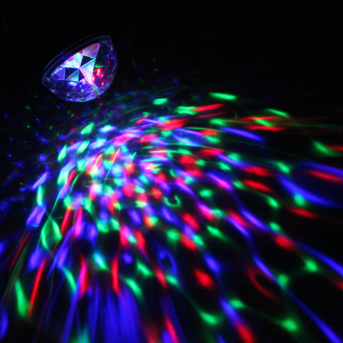 u 3w mini projecteur rgb led lumi re spot boule cristal lampe eclairage dj disco eu prise eu. Black Bedroom Furniture Sets. Home Design Ideas
