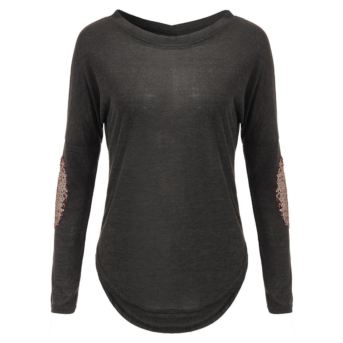 Zanzea women s sexy sheer shirt casual glitter stitching for Original stitch shirt review