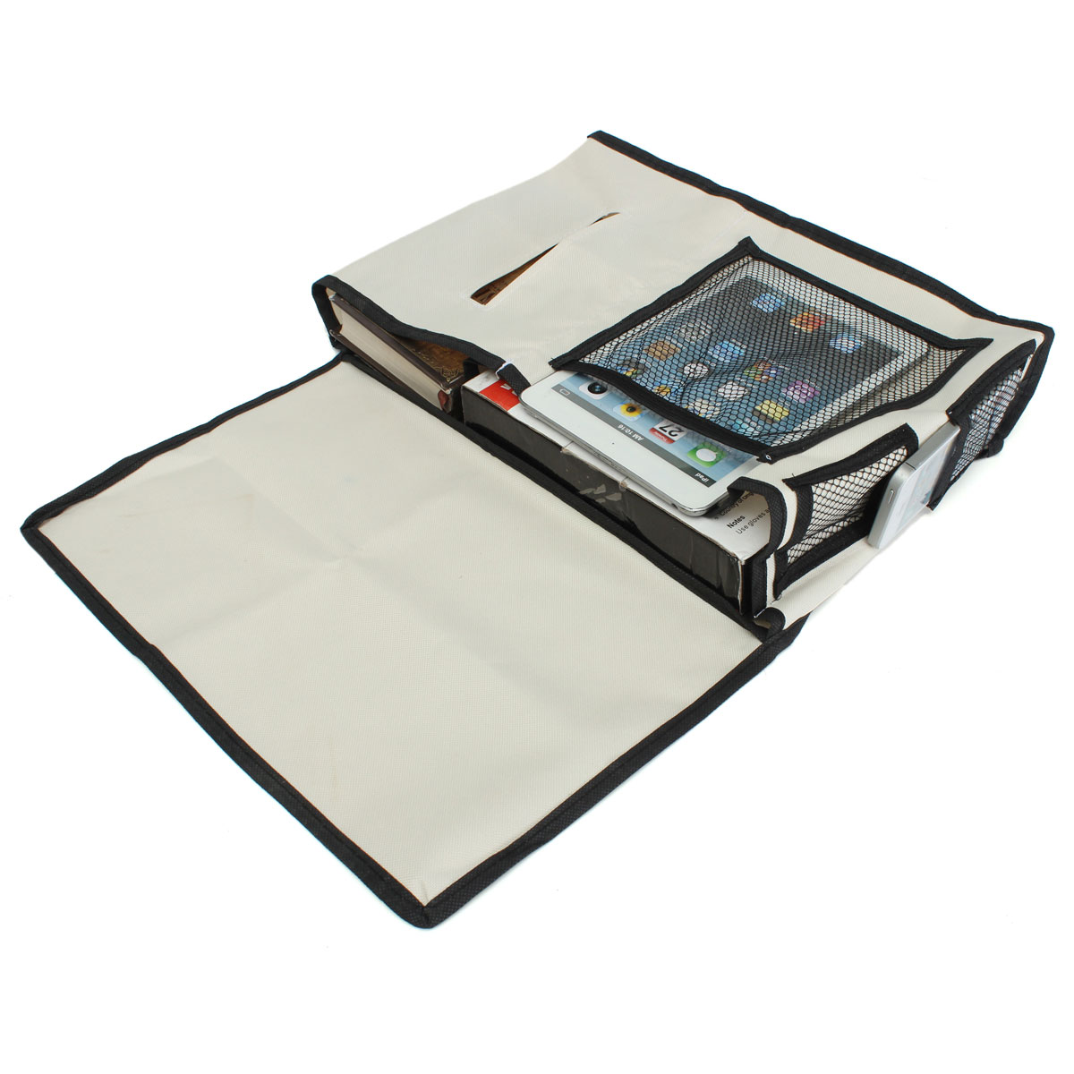 Sofa Bedside Caddy Phone Tissue Book Remote Pocket Storage