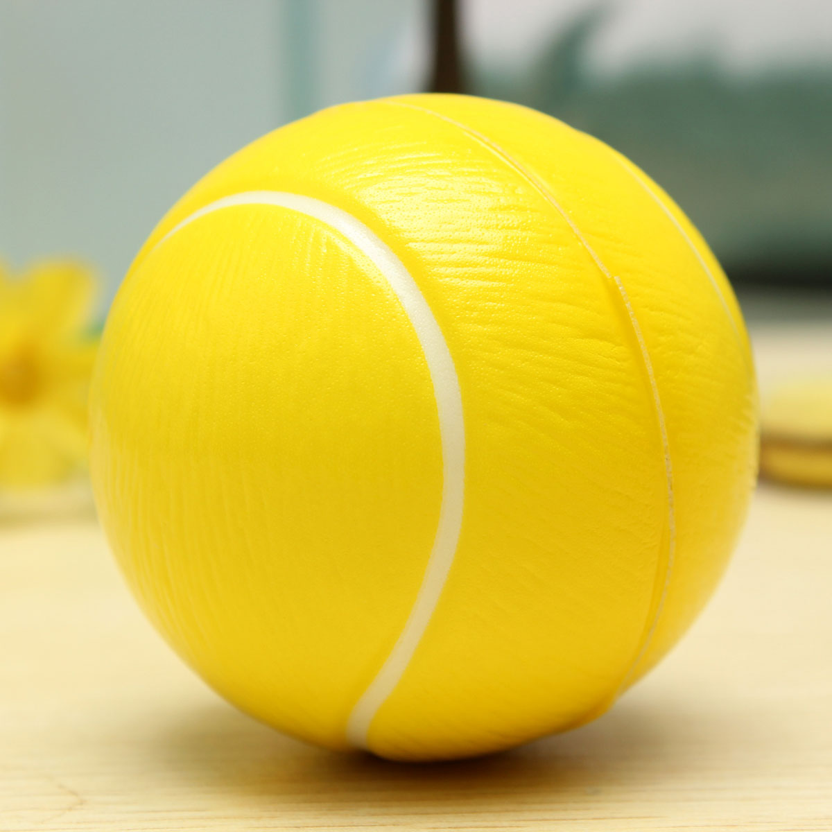 Squishy Tennis Ball : Soft Sponge Foam Stress Relief Press Squeeze Bouncy Ball Kids Educational Toy Tennis Ball - Intl ...