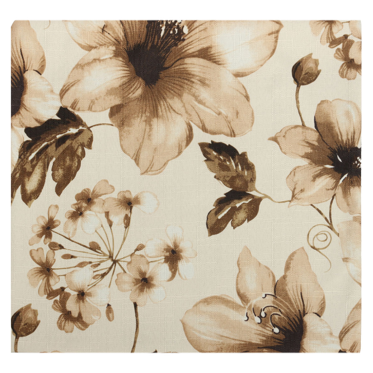 Vintage Square Flower Cotton Throw Pillow Cover Cushion
