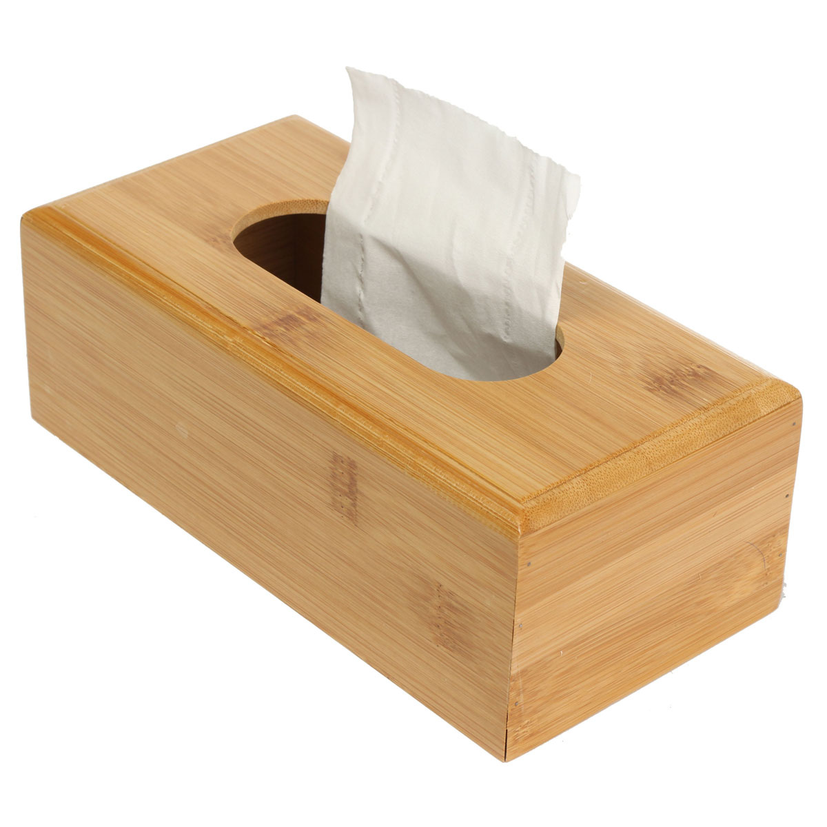 Decorative Bamboo Storage Box : Natural solid bamboo tissue box case cover holder home