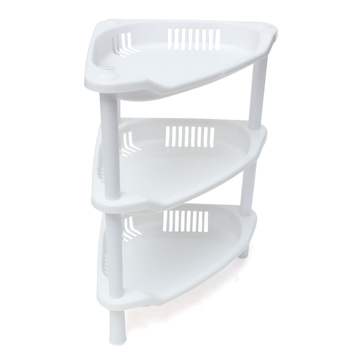 3 tier plastic corner shelf unit organizer cabinet - White bathroom corner shelf unit ...