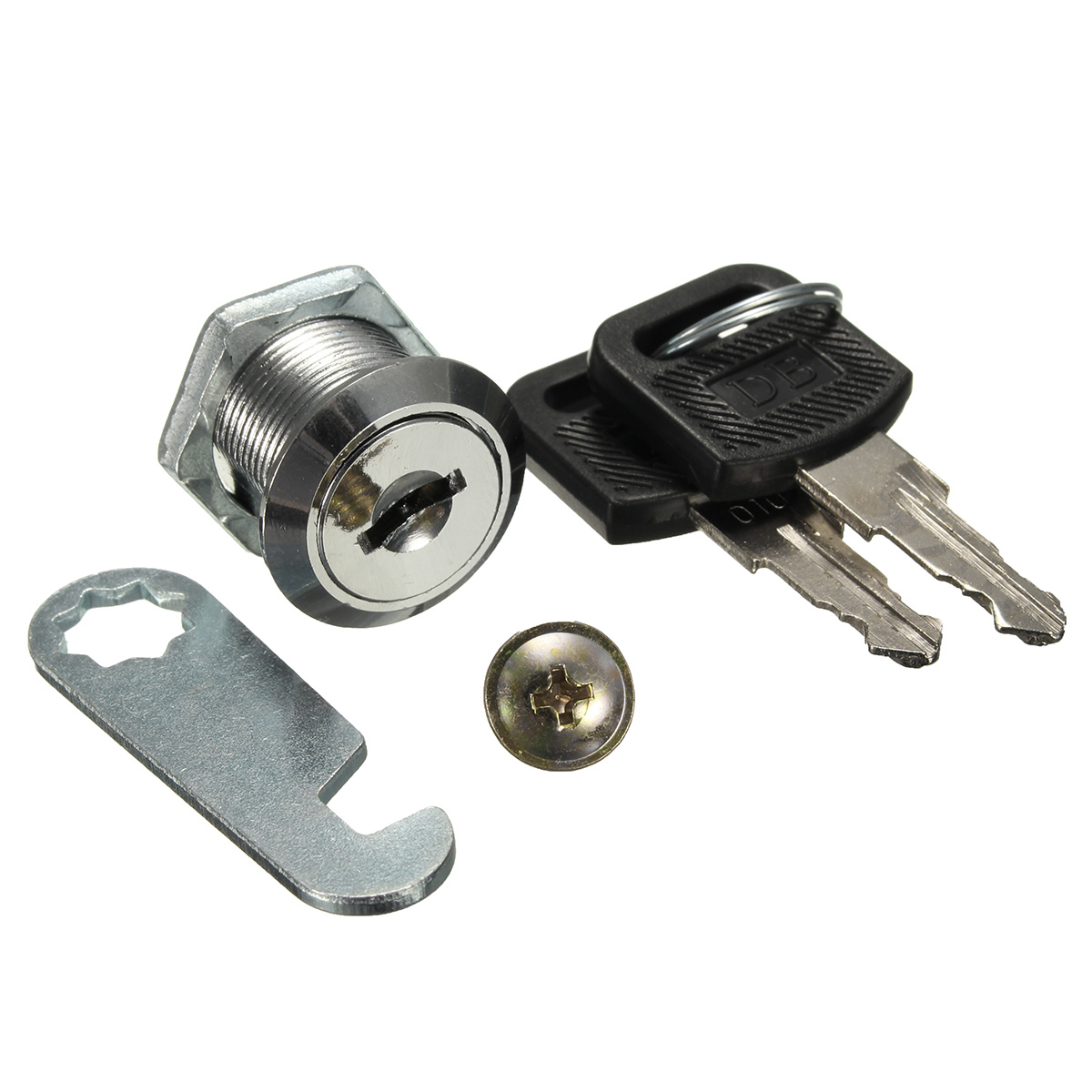 Zinc alloy cam locks 16mm 20mm filing cabinet mailbox for Cam lock kitchen cabinets
