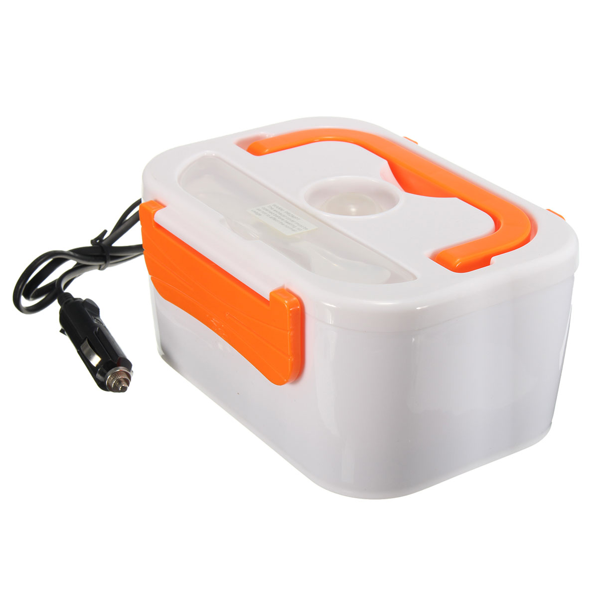 portable electric heated car plug heating lunch box bento box food warmer 12v. Black Bedroom Furniture Sets. Home Design Ideas