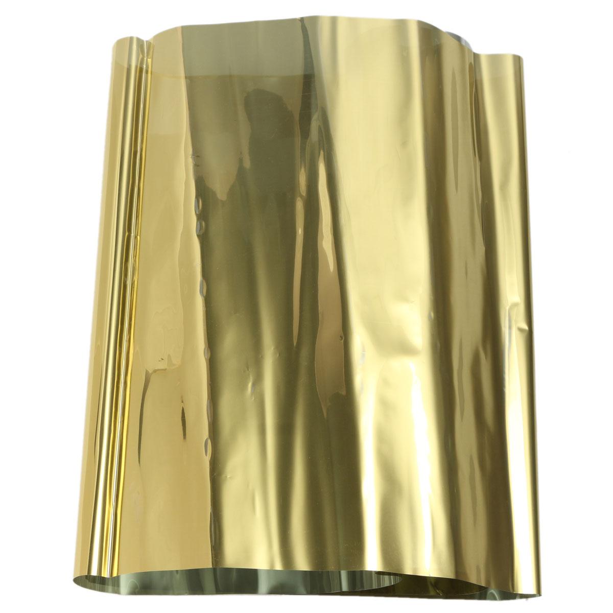 1mx30cm one way reflective mirror window film tint self for Gold window mirror