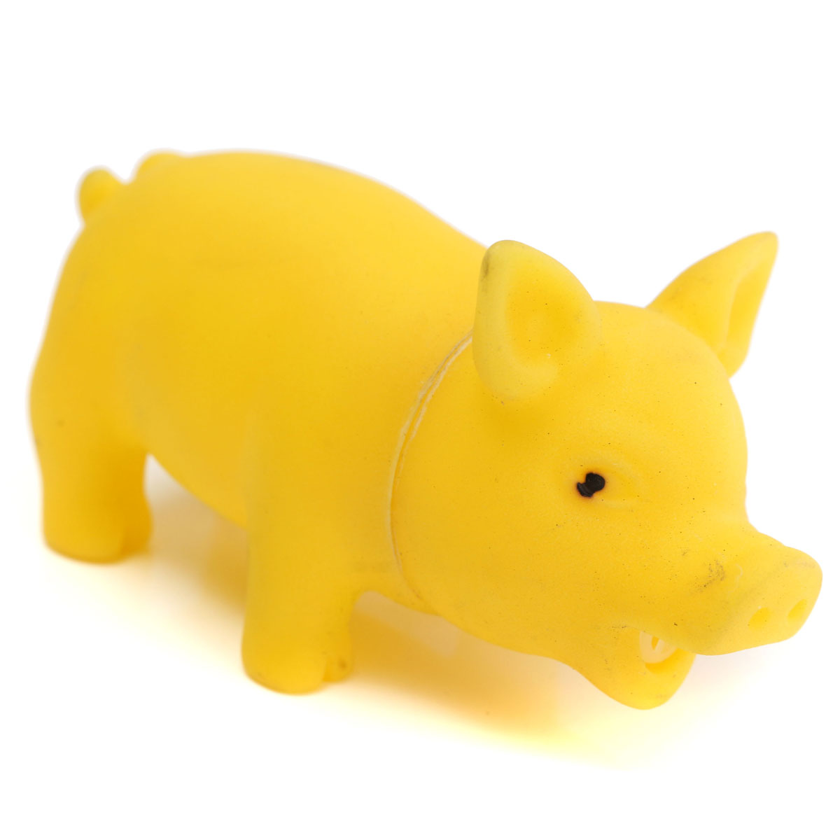 Rubber Pig Dog Toy Squeaker