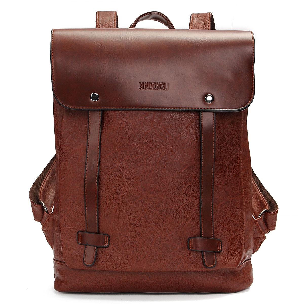 sac dos cartable pu cuir vintage homme femme voyage. Black Bedroom Furniture Sets. Home Design Ideas