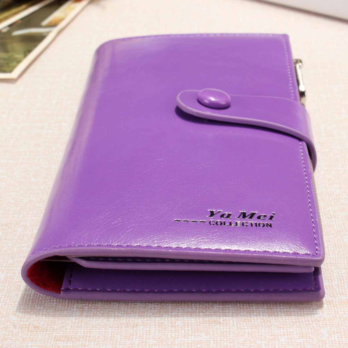 Women Pu Leather Zipper Coin Money Credit Card Long Wallet Clutch Purse Handbag Purple Lazada