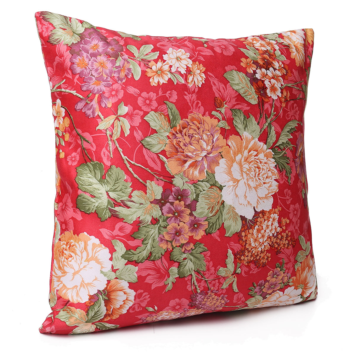 Floral Print Square Suede Bed Cushion Cover Throw Pillow Case Sofa Home Decor Lazada Malaysia