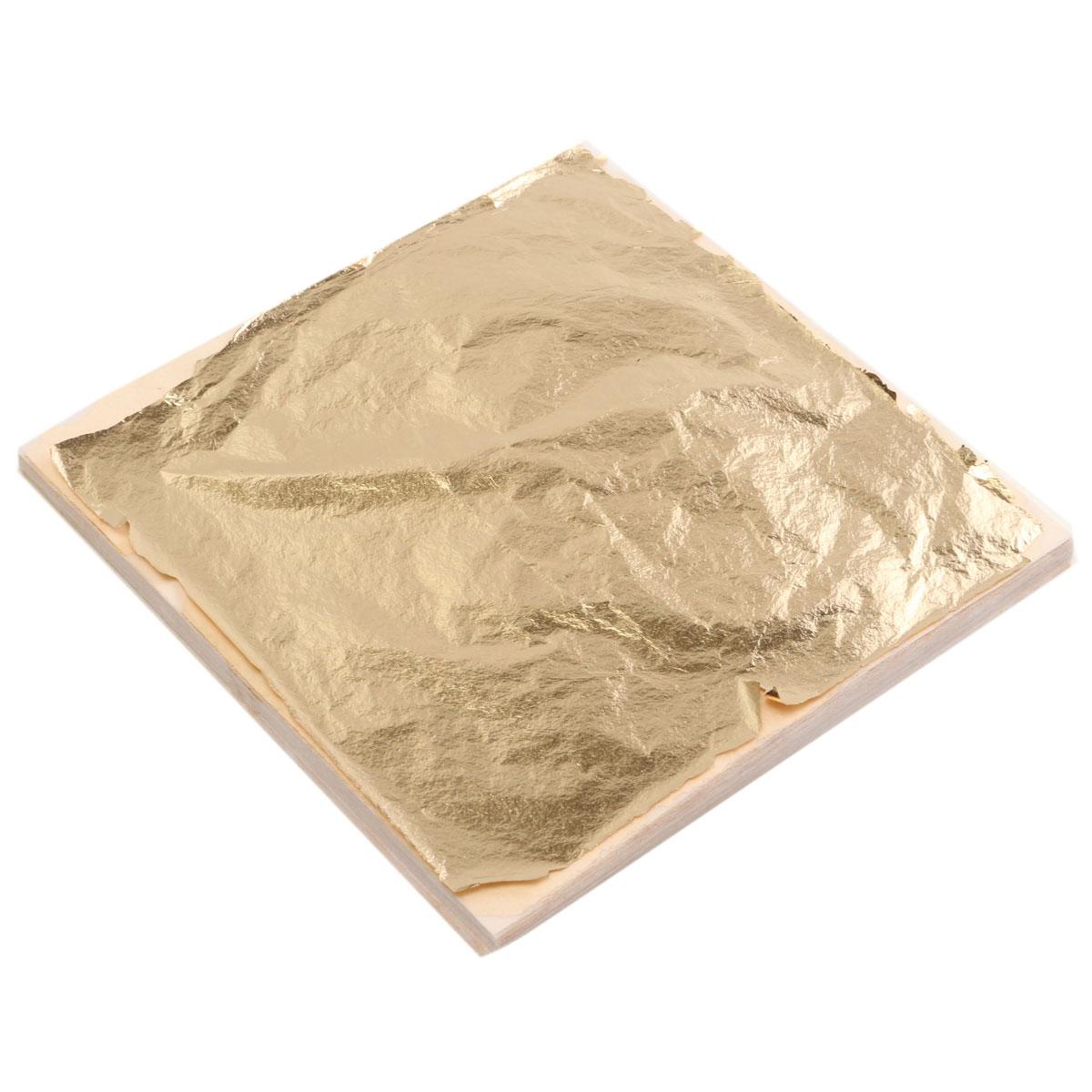 100pcs sheets gold leaf foil paper 14x14cm for gilding. Black Bedroom Furniture Sets. Home Design Ideas