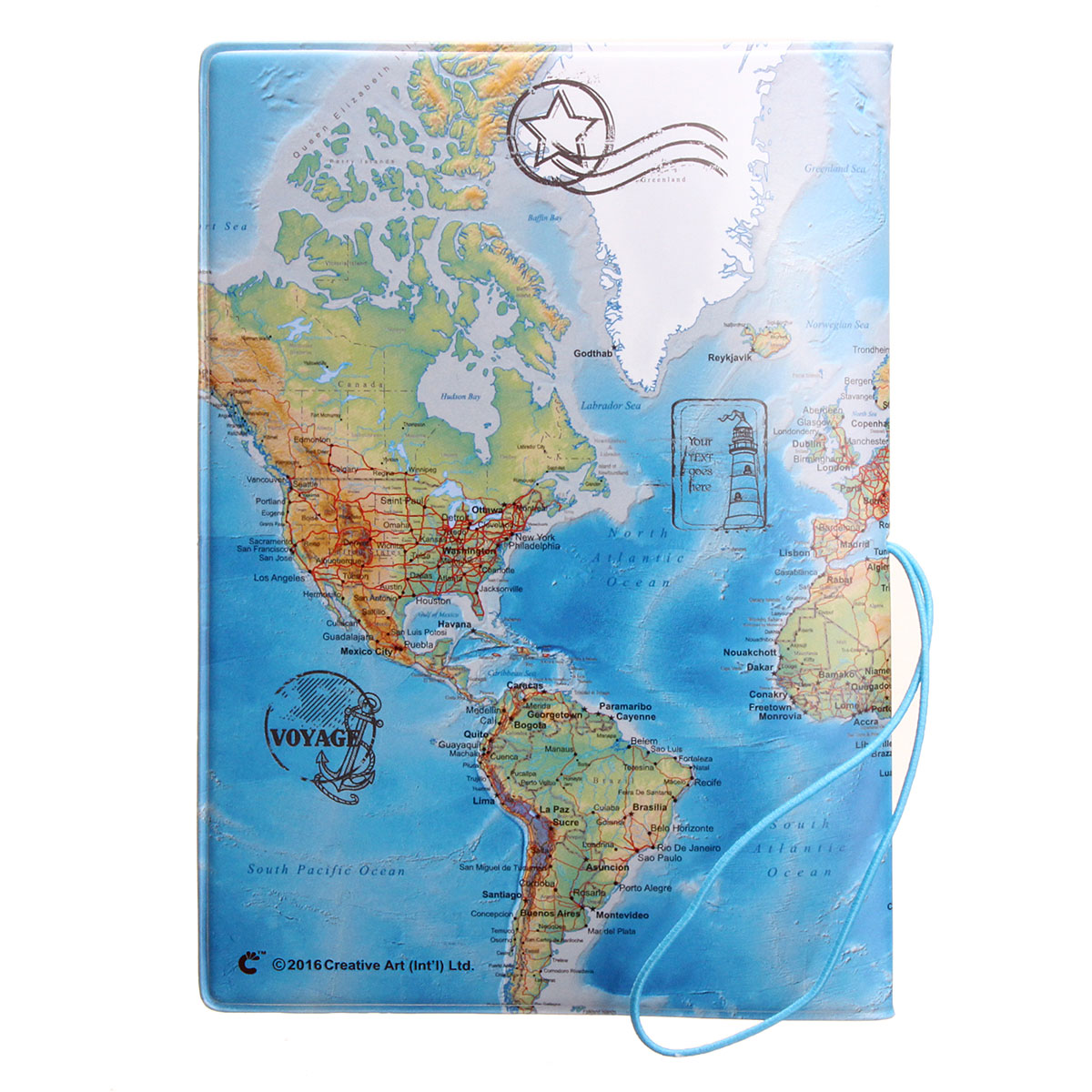 Map Passport Holder Organizer Travel Card Case Document Cover HOT Blue ...