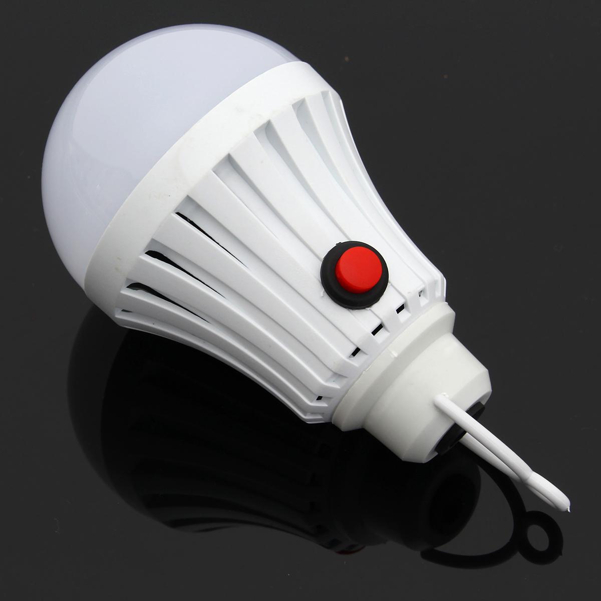 5W Portable Reading Flashlight Lamp USB Charging Mini White LED Night Light Bulb