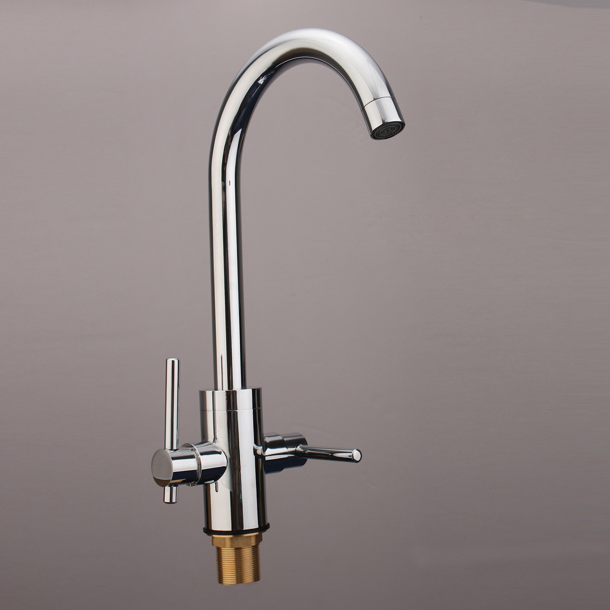 New Double Handles Hot/Cold Mixer Water Tap Basin Faucet