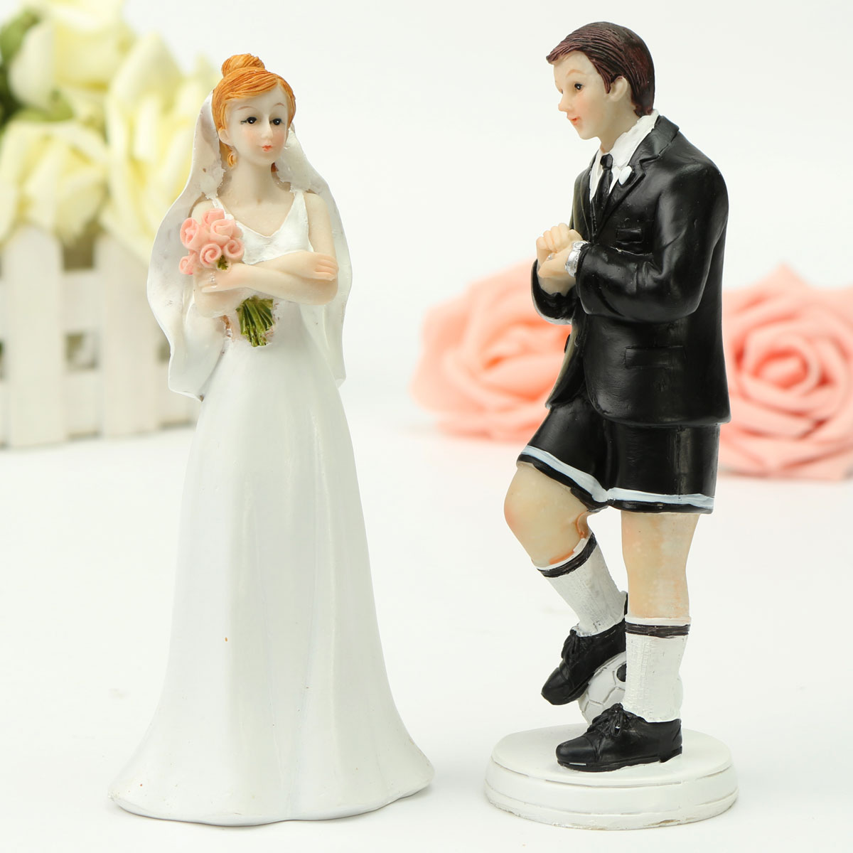 bride groom resin wedding cake topper couple figurine romantic