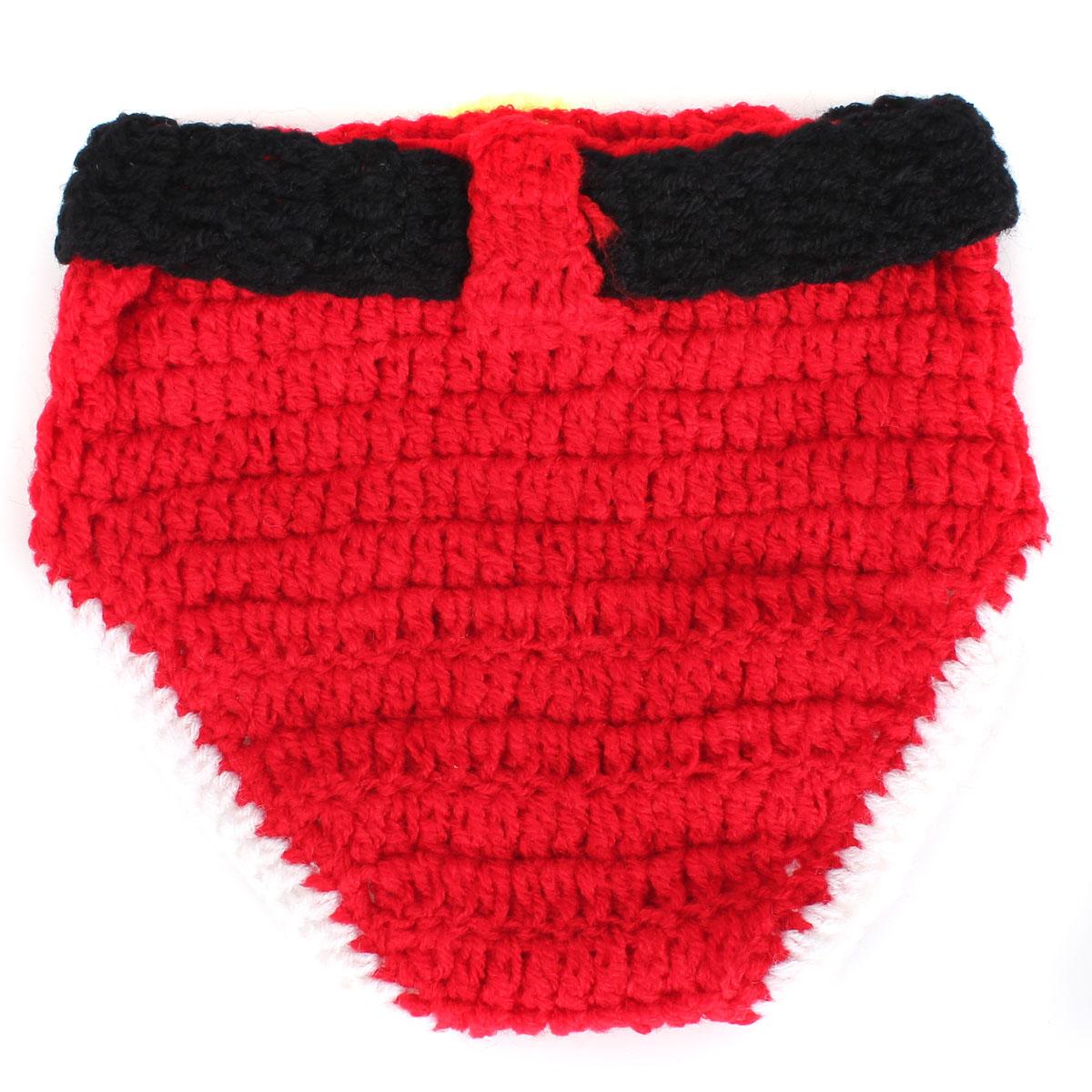 3618719c0e992 Unisex Père Noël Nouveau-né Bébé Vêtement Tricot Crochet Photo Rouge ...