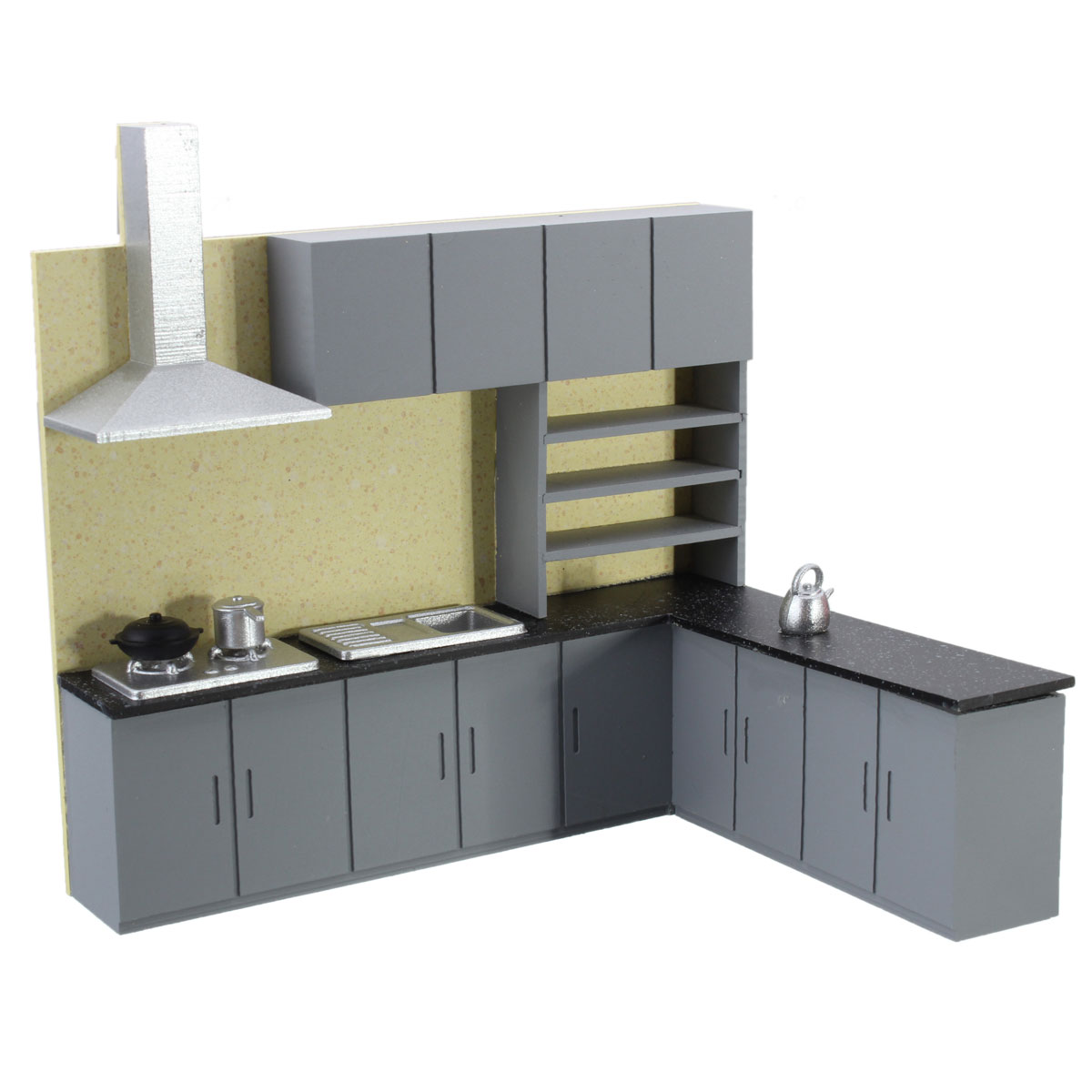 Dollhouse art modern simulation kitchen cabinet set model for Model model kitchen set