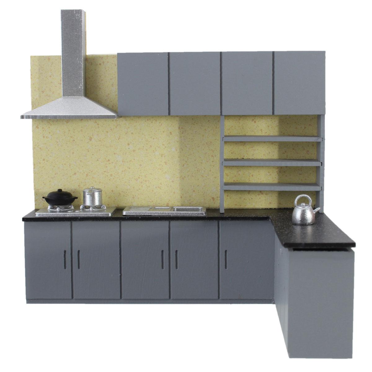 Dollhouse art modern simulation kitchen cabinet set model for Kitchen set lazada