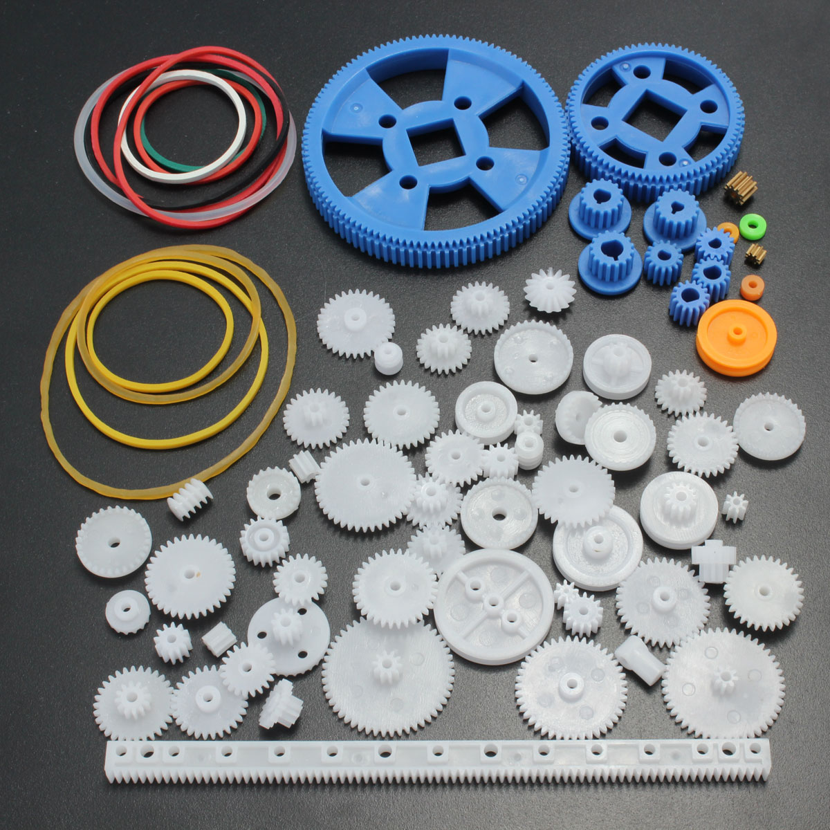 80x lot plastique robot roue dent e seule double layer couche couronne axe diy achat vente. Black Bedroom Furniture Sets. Home Design Ideas