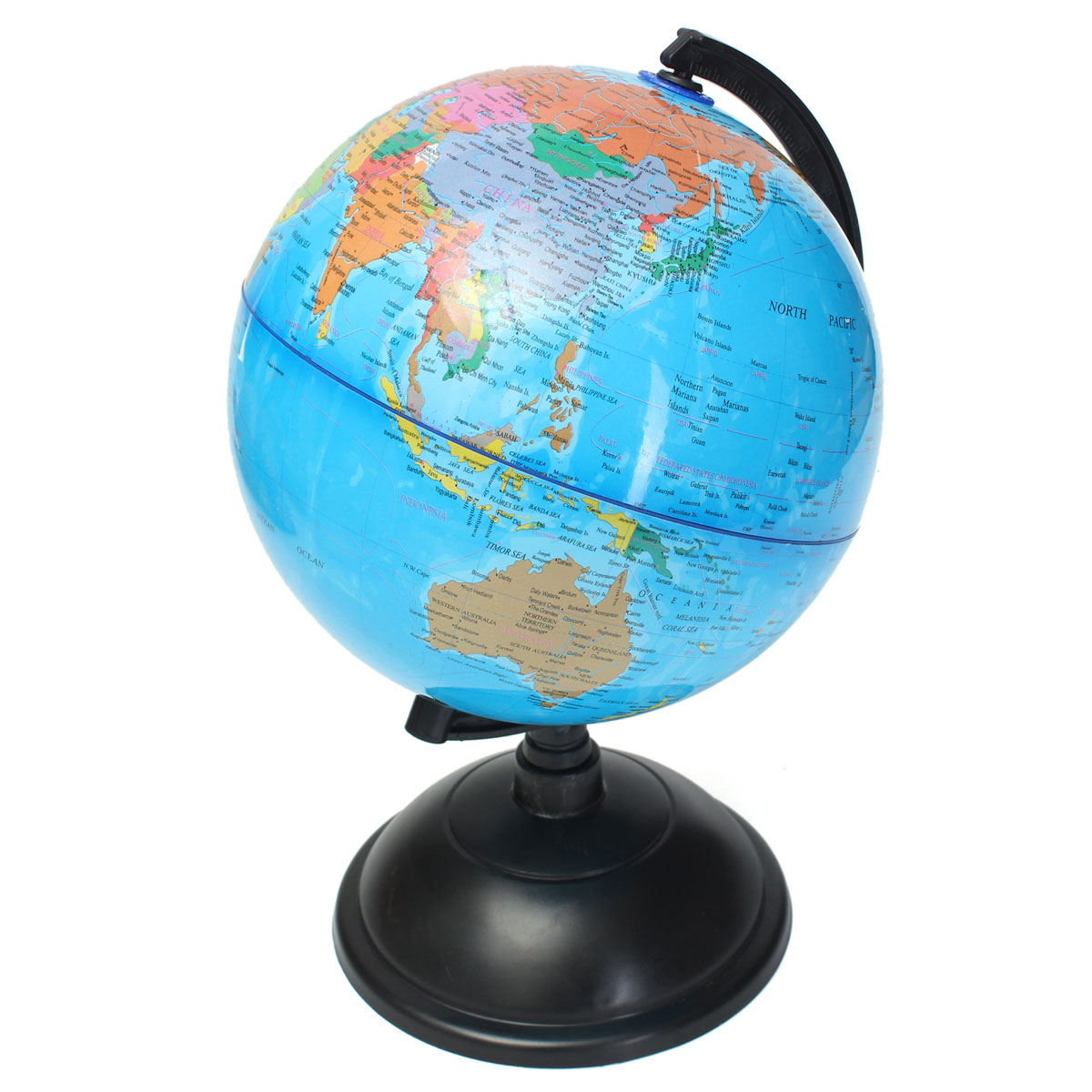 20cm Blue Ocean World Globe Map With Swivel Stand ...