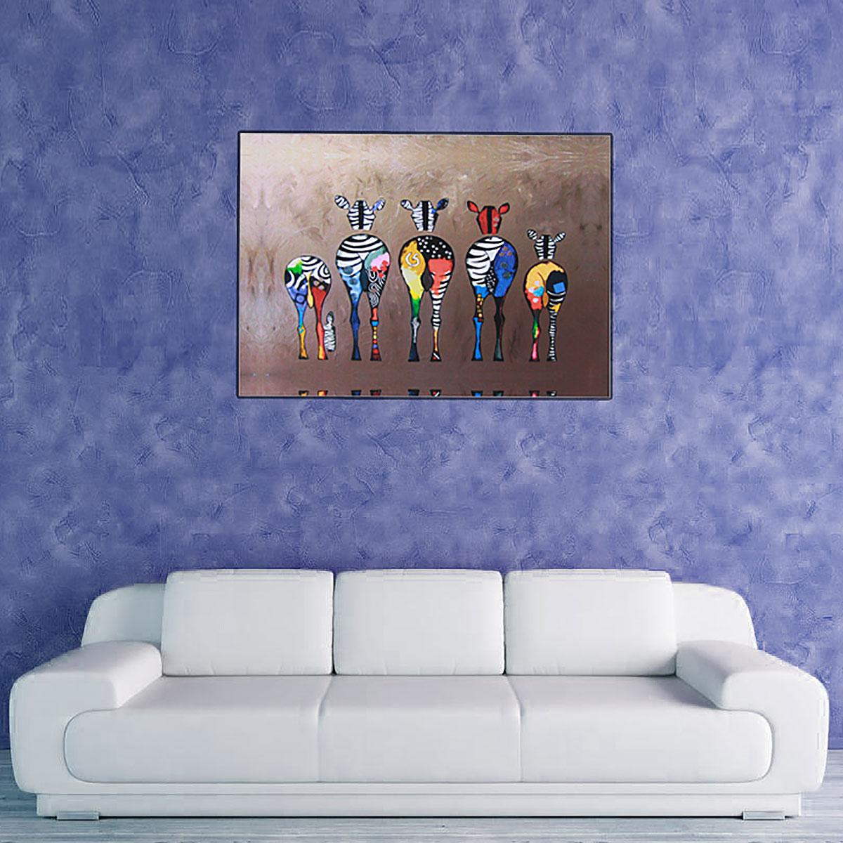 Hd unframed canvas print zebra home decor wall art poster for Zebra home decorations