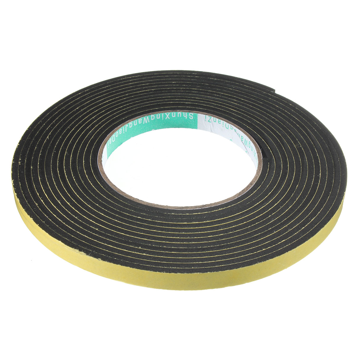 Foam rubber weather strip