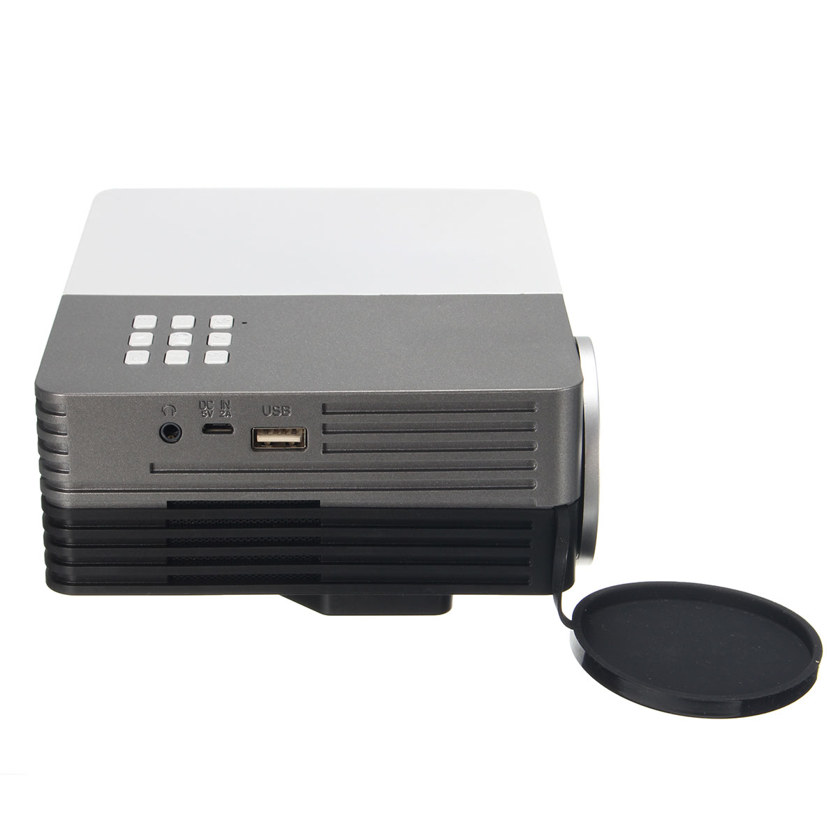 Gm50 1080p portable mini led vga 3d projector 150 lumens for Portable movie projector